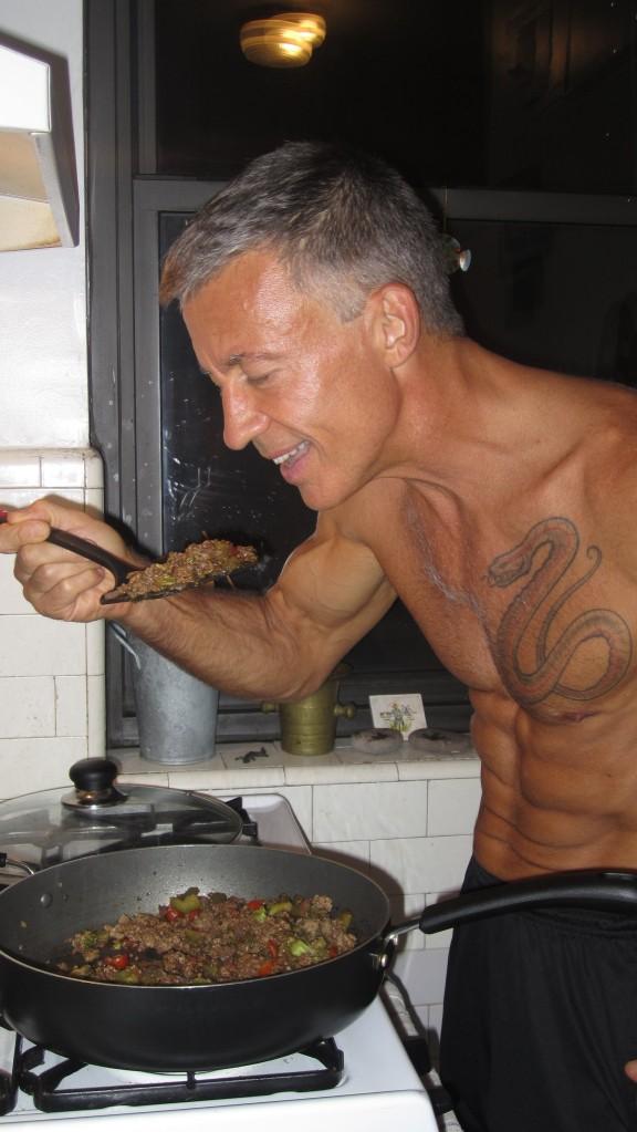 Shirtless Chef